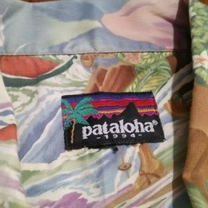 VTG 94 Patagonia Pataloha Hawaiian Camp Shirt Lg